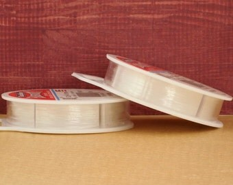 Elasticity Stretch Cord - Clear Transparent - 3 Sizes Available - Free Crimps Sample - 100% Guarantee