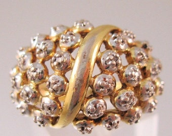 BIGGEST SALE of the Year Vintage Diamond Chip Cluster Ring Sterling Vermiel Size 7 Jewelry Jewellery