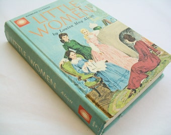 Vintage Little Women book, Louisa May Alcott, 1960s, hardbound, fiction
