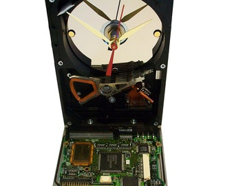 Hard Drive now a Clock with Rare Circuit Board Accenting the Base. Got Company Award? FREE SHIPPING USA!
