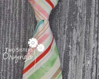 Christmas Neck Ties - Infant/Toddler/Child - Evergreen Stripes