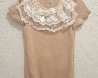 Baby Girl Infant Lace Onesie