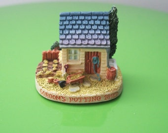 Potting Shed Miniature Charming House Miniature With Vegetable Patch Plus Garden Tools