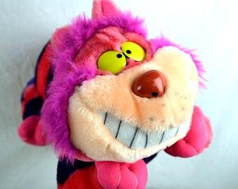 Vintage Walt Disney World Plush Stuffed CHESHIRE Cat Alice In Wonderland
