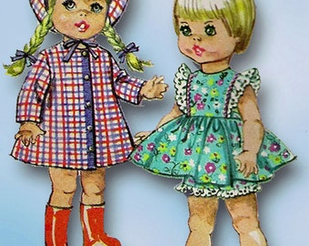 1960s Vintage Simplicity Sewing Pattern 7971 Winking Winnie 15 Inch Doll Clothes