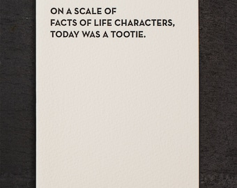 tootie. letterpress card. #923