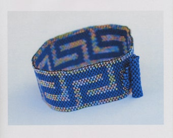 Bracelet Pattern - Greek Key Peyote Bracelet Pattern