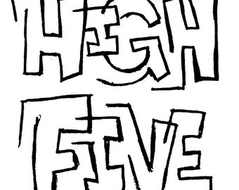 High Five - limited edition screen print, 5x7 inch