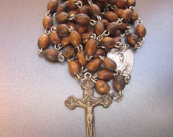 Vintage Seed Bead Rosary Italy