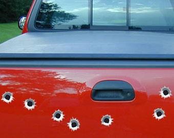 Bullet Holes Car Decals - Set of 10 vehicle decals