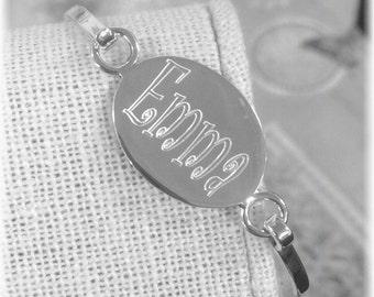 Sterling Silver Child Bangle Bracelet, Monogrammed Child Bracelet, Personalized Name Bracelet, Engraved Bangle Bracelet, Initial Bangle