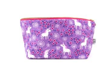 Mini Everything Bag - Unicorn - lularoe project bag travel bag wide bottom zipper pouch cosmetic case toiletry Bible Journal Bag prance tula