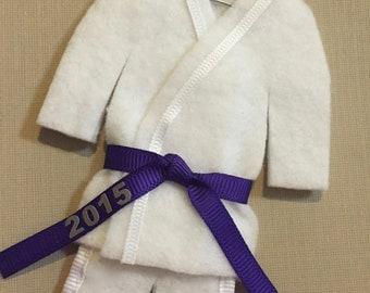 Purple Belt Martial Arts Ornament - pErSoNaLiZeD Martial Artist Uniform Christmas Ornament- TaeKwonDo Karate KungFu Holiday Ornaments