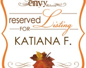 Custom Falling In Love Too Hand Cut Leaf Square Wedding Invitation Sets... Reserved for Katiana F.