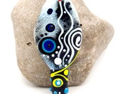 AMPHITRITE, New modern, Ancient MEDIEVAL, Ethnic style - Glass Art - Lampwork focal bead by Michou P. Anderson