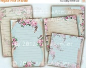 30% OFF SALE Sound of Roses Tags - Journaling Spots - Digital Collage Sheet - Set of 2