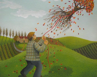 Tree Kite Print (Original painting SOLD) - print available