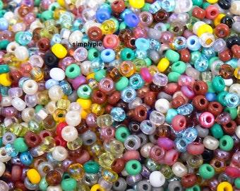 8/0 Czech Mix Glass Seed Beads 10-Grams