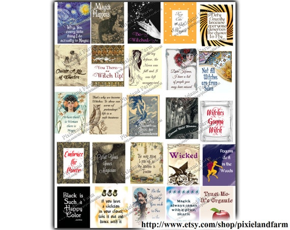 Pagan witch printable planner stickers digital download fits for For planner