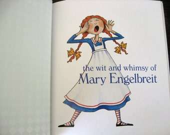 The Wit and Whimsy of Mary Engelbreit, Art book, Book Page Prints, Gift Book, Vintage Illustrations