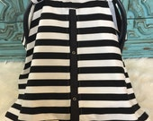 car seat canopy Black and White stripe