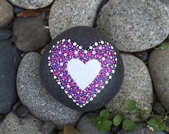 Heart Rock Paperweight with Bonus Peace Rock