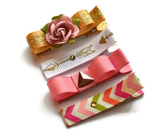 Girls hair clips, toddler hair clips, baby hair clips, gold kids, kids hair clips, baby shower gifts, gifts under 20, kids gift, baby gift