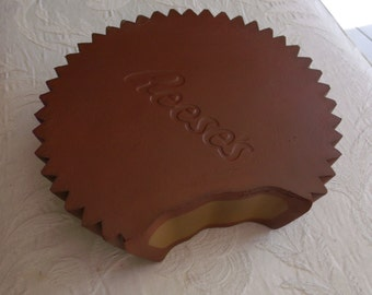 Vintage Adult Halloween Costume Reeses Peanut Butter Cup Hat Cheesehead