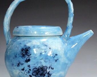 Handmade teapots,tea service, unique antiqued porcelain teapots, , porcelain teapots.