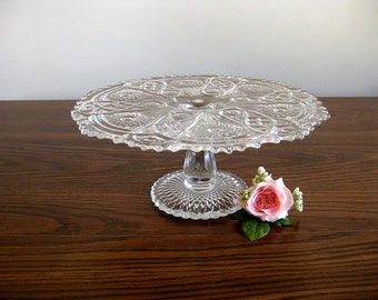Vintage 1950s Indiana Glass cake stand