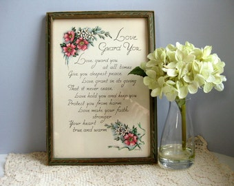 Vintage 1940s motto picture Motto wood frame print
