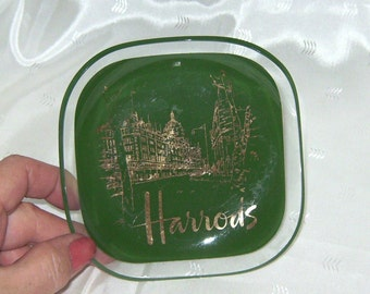 Harrods Department Store Glass Souvenir Advertising Collectible Plate