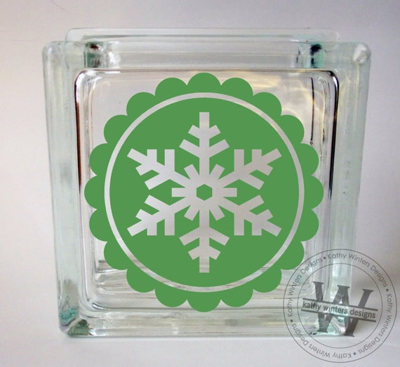 vinyl lettering for glass vinyl lettering glass block decal snowflake by kwintersdesigns 15847