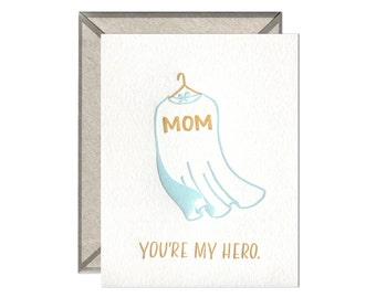 Hero Mom Mother's Day letterpress card - single