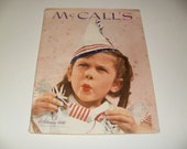 Vintage McCalls Magazine February 1946  - Birthday Cover Vintage Ads Fashions Paper Ephemera Collectible