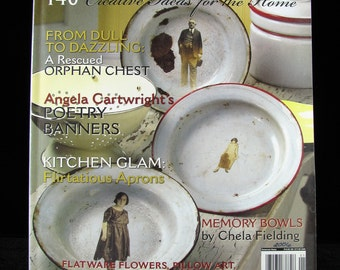 Somerset Home Magazine, First Issue, Volume 1 2006, Arts and Crafts Magazine, Mixed Media, Altered Art, Stampington & Company, Art Craft DIY