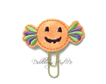 Halloween Candy Planner Clips, Candy Paper Clip, Vinyl Paper Clips, Accessory For Planner, Organizer Clips, Halloween Paper Clips, Reminders