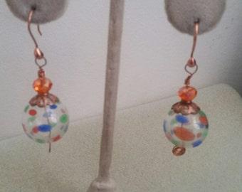 Blown Glass Carnival Earrings