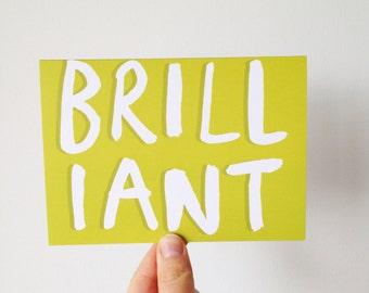 Brilliant - Brush Lettering Type Card