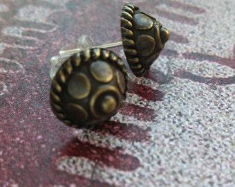 Viking earrings shield studs Norway Sweden Denmark Iceland bronze Medieval
