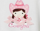 Girl's Cowgirl Shirt, Cowgirl Birthday Shirt, Personalize to Look Like Your Cowgirl