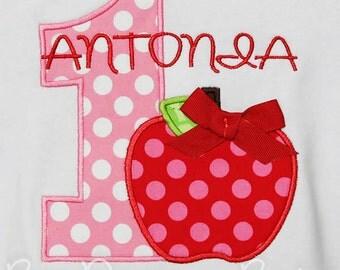 Apple Birthdya Shirt, Apple Birthday, Apple Birthday, First Birthday, Apple Picking Shirt, Pink Apple Shirt, Apple of My Eye Birthday Shirt