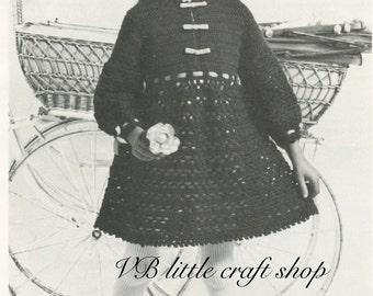 Girl's dress crochet pattern.  Instant PDF download!
