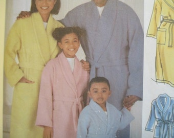 Simplicity Robe Pattern, Child's, Teens and Adults' Robe and Belt, Uncut