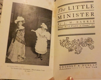 Antique 1897 The Little Minister Photoplay Silent Movie Stage Theater Photo Film Still Book Scotland Story Maude Adams Robert Edeson