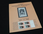Scott No 1373 California 1969 US Stamp Sheet Settlement July 16th Commemorative 4~6c Vintage Postage Stamps With Original Bulletin Poster