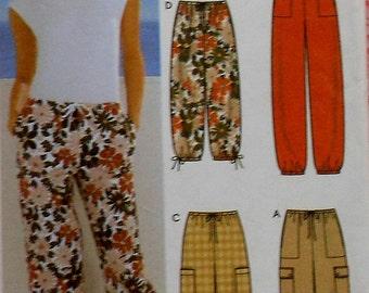 Drawstring Pants and Shorts Sewing Pattern UNCUT Simplicity 5562 Sizes 6-12