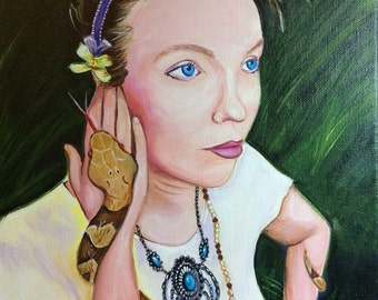 Portrait (9x12, Acrylic on Canvas, custom made to order, commission)