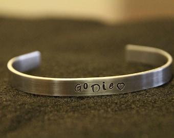Go Die <3 - Angsty Aluminum - Cuff Bracelet