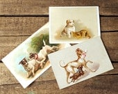 Victorian Trade Cards Ads All Dogs Go To Heaven